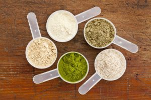 Selection of protein powders